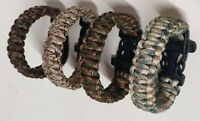LOT BRACELET MILITAIRE PARACORD SURVIE SECOURS SURVIVALISME BUSHCRAFT NECKLACE