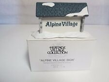 Dept 56 Heritage Village Alpine Village Sign #6571-4 Porcelain