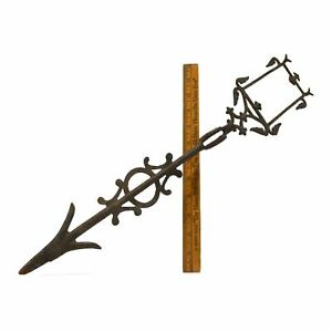 Antique IRON WEATHERVANE ARROW Lightning Rod **MISSING TIN INSERT** Parts/Repair