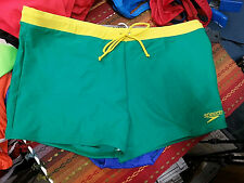 Speedo Men's Green Square Cut Swimsuit Nylon/Spandex - Size US38 AUS18 NEW