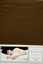 DOUBLE BED DUVET COVER SET CHOCOLATE HOTEL EGYPTIAN COTTON 400 THREAD COUNT