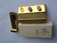 Vintage Golden Plated Lip Case with Mirror