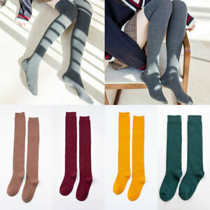 Women Tights Highs Over Knee Cotton Socks Long Stockings Fashion Solid Soft Sock