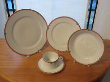 PORCELAINE CNP *NEW* OXFORD EMILIE Set 3 assiettes + 1 tasse Set 3 plates+1 cup