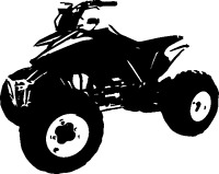 QUAD ATV BIKE ATC FOUR WHEELER STICKER DECAL 134 FUNNY WARNING NO FREE RIDES