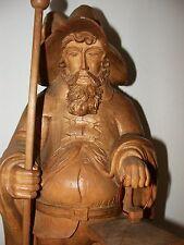 Nachtwächter 57cm, 2 farbige Holzfigur ,Skulptur,Südtirol, Holzschnitzerei ,