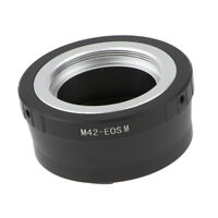 Metal Adapter Ring for M42 42mm Lens to Canon EOS M EOS M M2 M3 EF-M Camera