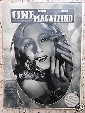 cine magazzino isa miranda teatro radio cinema italian magazine numero rarissimo