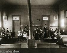 Old Time School Teacher Vintage Teaching One Room School Woodstove 1904