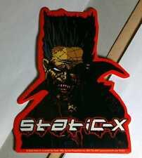 STATIC-X STATIC X MOHAWK VAMPIRE ZOMBIE HELMET BIKE BOARD CASE AMP MUSIC STICKER