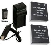 TWO 2 Batteries + Charger for Leica X2 Digital Camera
