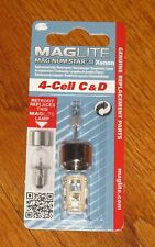 Maglite 4 Cell C & D Replacement Bulb  XENON Mag-num Star II Magnum