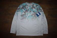 HUK Men's Icon X Refraction Camo Fade L/S Fishing Shirt Size L (Inshore 337)