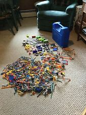 Used. Huge Lot of K'Nex  What you see is what you get!  #55. In blue case.