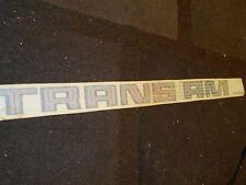 "1970's 1980's PONTIAC FIREBIRD TRANS AM TRUNK DECKLID DECAL 30"" BLACK GREY RED"