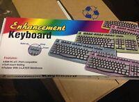 Enhanced Computer Keyboard  IBM AT Connector 5 Pin DIN 5 Legacy Vintage Win Dos