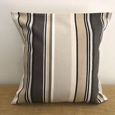 """CLEARANCE!........18"""" (45cm) BROWN & CREAM STRIPES Cushion Cover. Made Australia"""