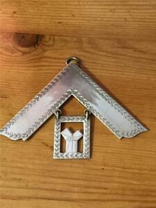 Masonic Craft Past Masters Collar Jewel Silver Plate Temple Lodge 4963