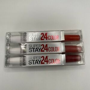 3 X Maybelline SuperStay 24 Lipcolor 2 Step Color In 010 041 210 Shade