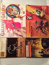 6 SF Pulp Art JACK GAUGHAN Larry Niven Laumer Asimov Sturgeon Herbert Sci Fi Lot