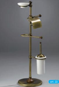 Floor Bathroom Accessories Brass Wood Wc Bidet Classic Combined Made IN Italy