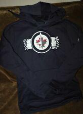 Winnipeg Jets hoodie sweatshirt women's SMALL Adidas 2018 NHL NEW with Tags blue