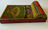 1920s Tin Litho THE GREAT AMERICAN GAME BaseBall Spinner Game Toy by HUSTLER TOY