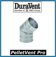 "DURAVENT PELLETVENT PRO Pipe 3"" Diameter 45 Degree Elbow #3PVP-E45 NEW!"