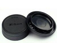 Camera Body Cap and Lens Rear Cap Cover Protector for All Nikon DSLR