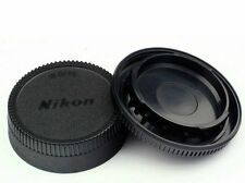 Camera Body Cap and Lens Rear Cap Cover Protector for All Nikon DSLR Rear Cap