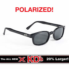 X-KD's Black Frame Polarized Lens Sunglasses XKD Motorcycle Riding Glasses
