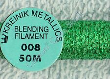 Kreinik Blending Filament 008 Green Metallic Thread 50M Cross Stitch