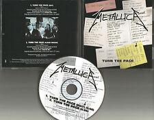 METALLICA Turn the Page w/ RARE EDIT 1998 USA PROMO Radio DJ CD Single BOB SEGER