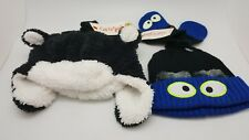 Lot of 2 Cat and Jack Winter Hats and Mittens Kid Toddler Size 2T-5T