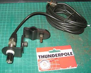Thunderpole Swivel bar mirror mount for 3/8 stud antennas