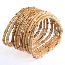 5 Pares De Madera De Bambú Mano Bolso asas