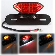 Black Rear Tail Light License Plate Holder For Yamaha Harley Cafe Racer Custom