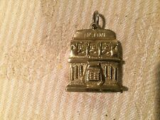 Las Vegas Hilton Vintage Heavy Brass Slot Machine Key Chain Charm