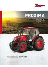 Zetor Proxima Series Tractor Brochure 06/2018 June 2018