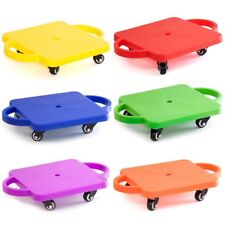 Kids Gym Class Plastic Scooter Board with Safety Handles (6 Colors Available)
