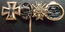 ✚7871✚ German post WW2 1957 pattern miniature pin badge Iron Cross Wound Badge