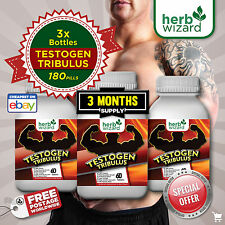 TRIBULUS TERRESTRIS SUPER PLUS - 3 MONTH KIT 96% Saponins - Testosterone booster