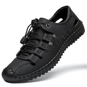 Men's Sandals Comfortable Men Shoes Leather Sandals Outdoor Men Casual Shoes