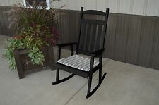 Outdoor Classic Front Porch Rocker Amish Made in the USA- Black Paint Option