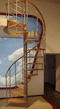 Space saving, Loft, Spiral Staircase VENICE 120/140/160cm Beech/Oak/Walnut/White