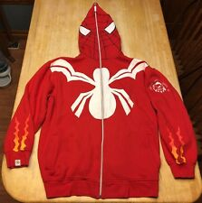 Mens CLH Spiderman Hoodie Jacket 3XL