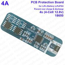 4A pcm protection pcb module bms pour 4S 12.8v lifepo 4 18650 pack batterie 4 cellules