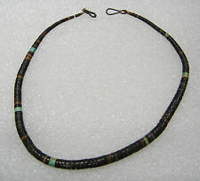 SOUTHWEST GRADUATED HEISHI TURQUOISE 15 INCH NECKLACE N557-F