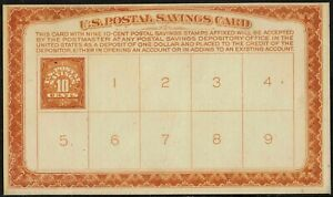 #PS2 1911 MINT DEPOSIT CARD FOR  PS1 STAMPS--SOME BACK FAULTS-SEE SCANS