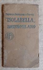 ISOLABELLA catalogo listino prezzi premiata distilleria vapore Milano 1911